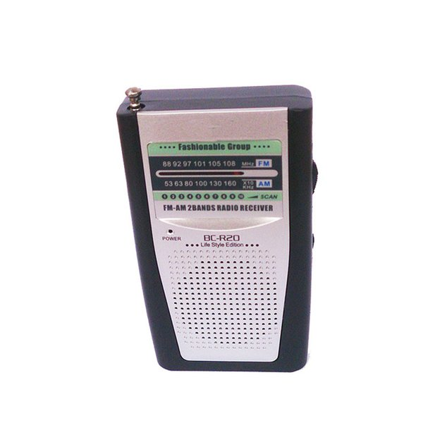 Old Man BC-R20 Multifunction Radio Mini Pocket Portable AM FM Radio Receiver Loudspeaker Music Player