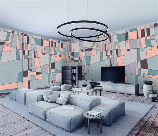 2019 New Custom Photo 3d Wallpaper Modern Abstract Square Simple House Wallpaper Wall Decoration Wall paper