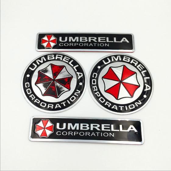 Metallo 3D Resident Car Sticker Evil Umbrella Corporation Car Badge Emblem Trunk Adesivi in alluminio decalcomania Cool con autoadesivo Car styling