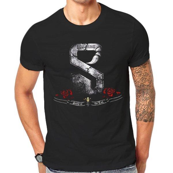 Kaya Tee Tişörtlü Serin Siyah Grafik Baskı Gömlek 1-A-192 Yeni Marka-Giyim T Gömlek üst tee