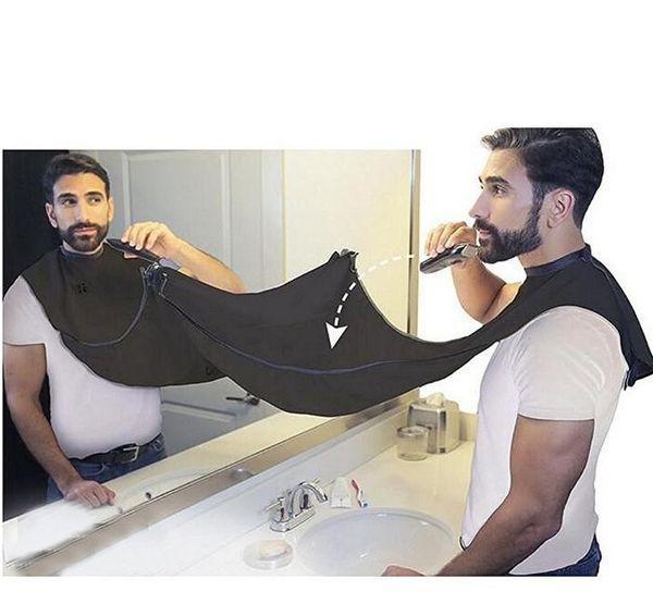 Negro barba hombre delantal Nueva afeitar la barba delantal rápidas convenien atención limpia hombres de limpieza impermeable Protect Baño Suministros