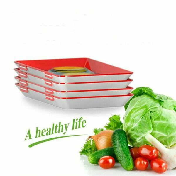 Criativa fresco Conservação de alimentos bandeja Organizador fresco Conservação de alimentos Pallet Frigorífico Food Storage Container Cozinha