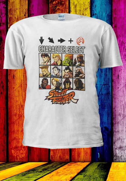 Street Fighter Characters T-Shirt Final Fight Game Women Men Unisex Tee Top