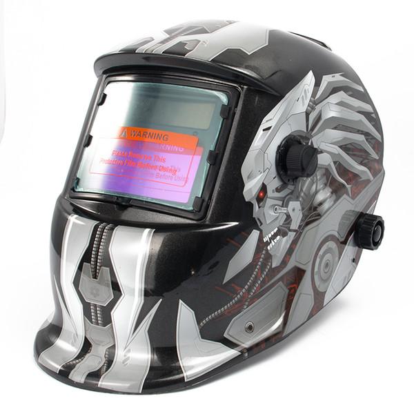 Schweißhelme Solar Power Auto Darkening Hood Schweißer Maske Schleifen Atmungsaktive Helme mit verstellbarem Schattenbereich