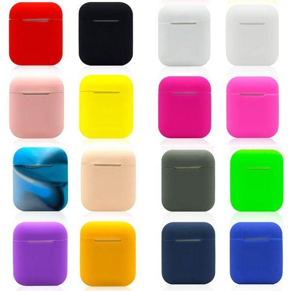 2019 für Airpods Schutzhülle Verbindungskabel für iPhone Airpod Bluetooth drahtlose Kopfhörer Silikonhülle Wasserdicht Anti-Drop-Gurt