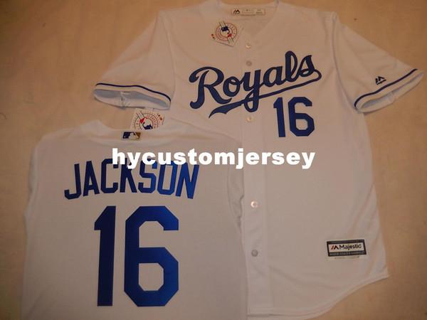 best service 2860f b3f6f 2019 Cheap Custom Kansas City #16 BO JACKSON Cool Base Sewn Baseball Jersey  WHITE New Mens Stitched Jerseys Big And Tall SIZE XS 6XL For Sale From ...