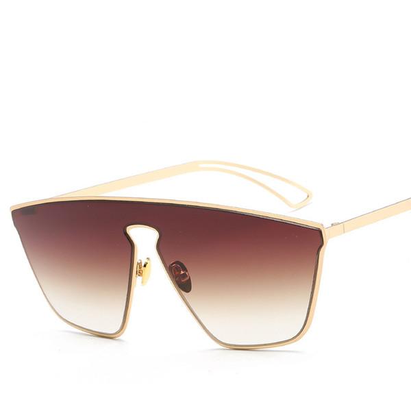 Gafas de sol de vanguardia para hombres mujeres diseño de moda gafas de montura completa Buena calidad Retro Gafas de protección UV Sunglass de lujo