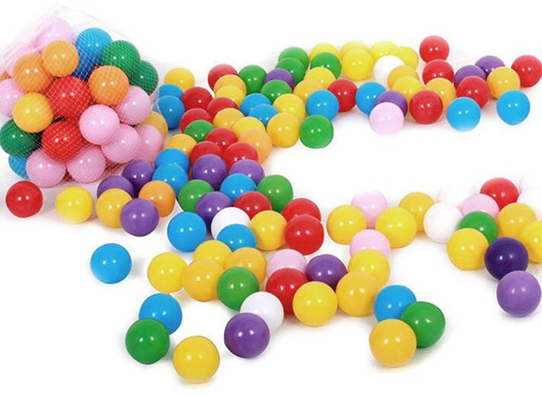 best selling HOT 5.5cm Marine Balls Colored Children's Play Equipment Swimming Balls Toy Color Thickened Color Wave Ball Baby Ball Pool Toys