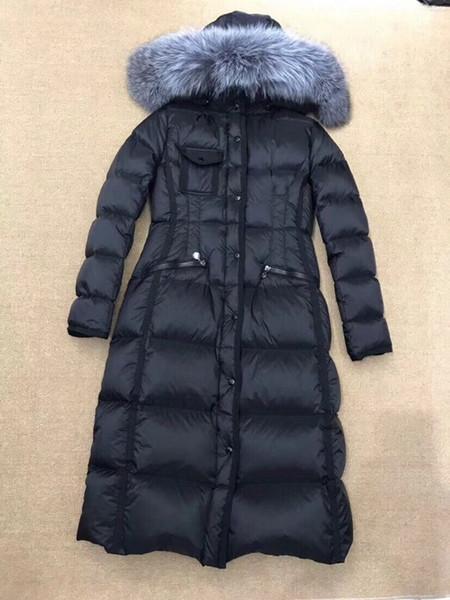2019 Women Winter Jacket warm Duck down coat 100/% Real Fur Collar Hooded Parka