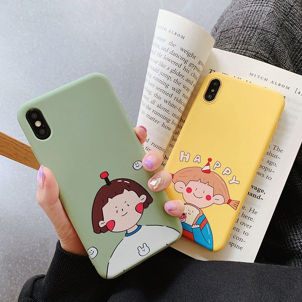 Designer Cell Phone Cases Cartoon TPU Solid Color Back Cover Silicone soft Cover For Iphone 6S