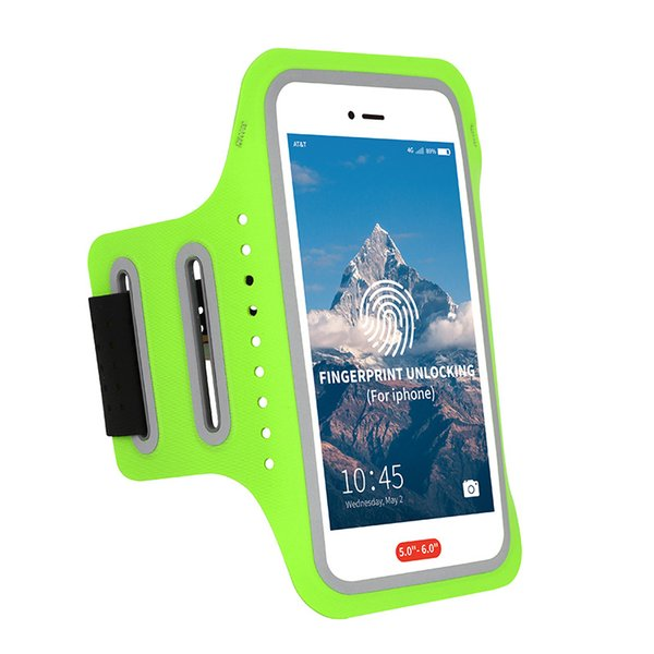 Full-screen fingerprint unlocking of explosive outdoor running mobile phone arm bag ultra-thin elastic breathable arm with waterproof and an