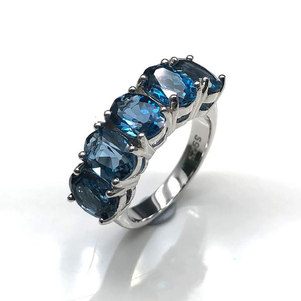 london anéis-10 azul
