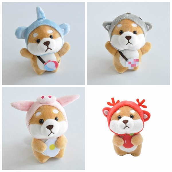 Kawaii tiere plüsch puppe cartoon schlüsselanhänger spielzeug für kinder plüsch baby nette lustige spielzeug für kinder geburtstagsgeschenke