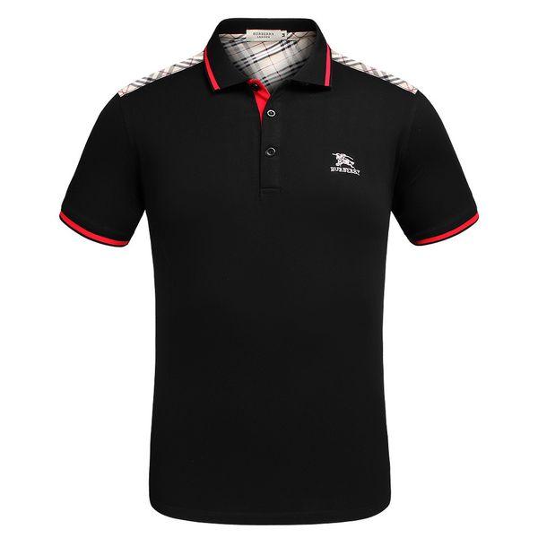 Men Designer Polo Shirts 2019 Summer Short Sleeve Polo Tees Lapel T-shirts Stylish Plaid Prints Pattern Summer Explosion Slim Polo Shirts
