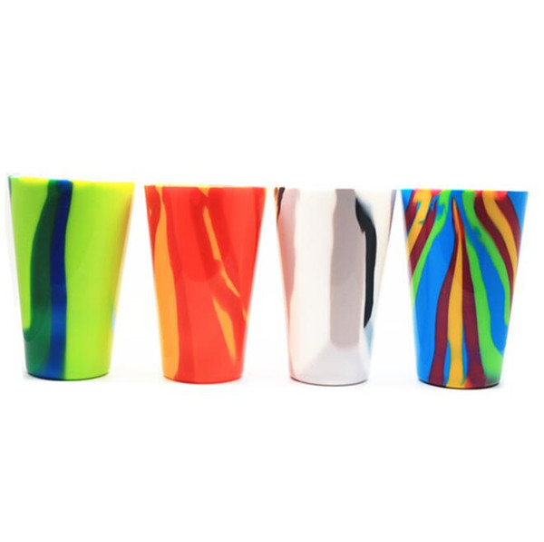 top popular 4 Colors 450ml Camouflage Silicone Red Wine Glass Cups Beer Glass Collapsible Silicone Beer Cup Drinkware Coffee Mug CCA11725 20pcs 2021