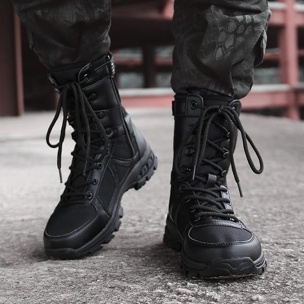 Stivali tattici militari degli uomini di migliore qualità, stivali da combattimento dell'esercito di caccia del motociclo del deserto di caccia esterna degli uomini Forze speciali degli stivali di combattimento