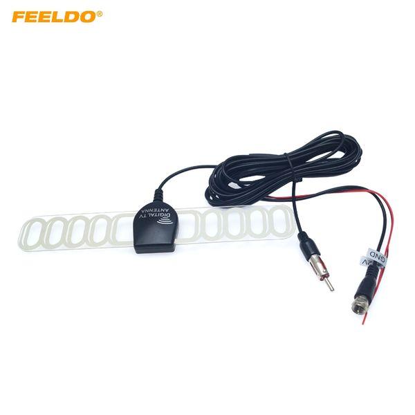 Feeldo Car TV digitale DVB-T 2in1 FM / Radio connettore antenna del ripetitore Amp F # 897