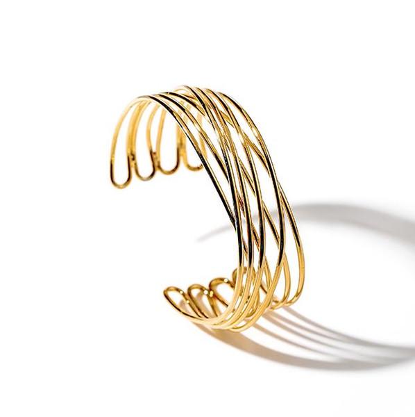 Персонализированные многослойный браслет женской мода европейская и американский атмосферные металлический декоративный открытый браслет