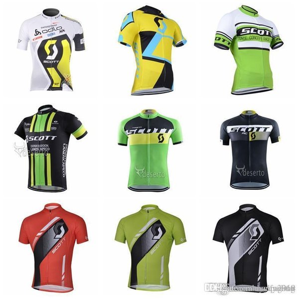 2018 SCOTT Men's Cycling Jersey Short Sleeve Breathable Comfortable Bicycle clothes High Quality Bike Outdoor Shirts F0907