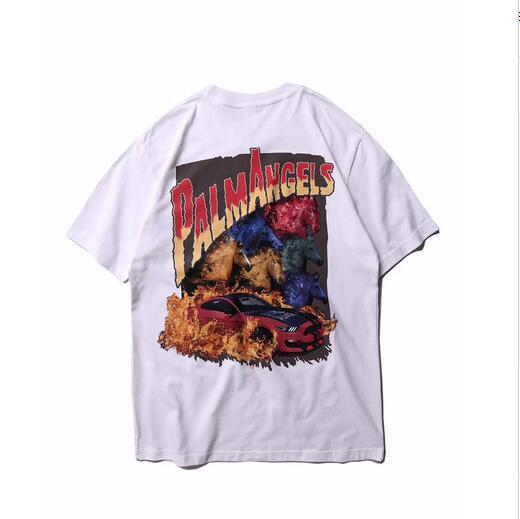 Palm Angels camiseta Wen Mejor Calidad Impresión 3D Top Tees Moda Casual Skateboard 2019 Nuevo Hip Hop Algodón Palm Angels camiseta