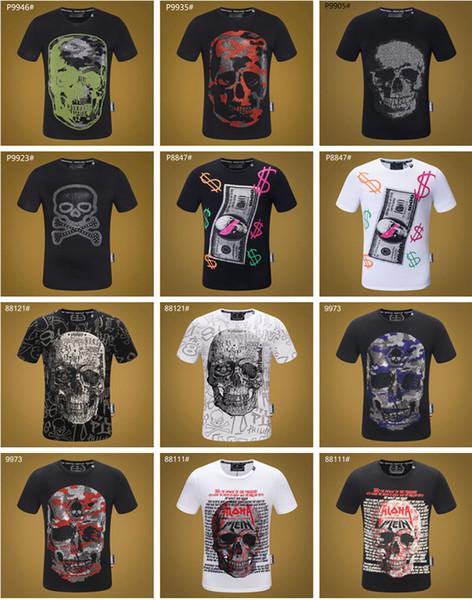 PP Hombres Camiseta Moda Casual Tops Tees Sport Correr Medusa Camisetas Manga Corta Verano Hombre Hip Hop D2 3D Suklls Camiseta para hombre