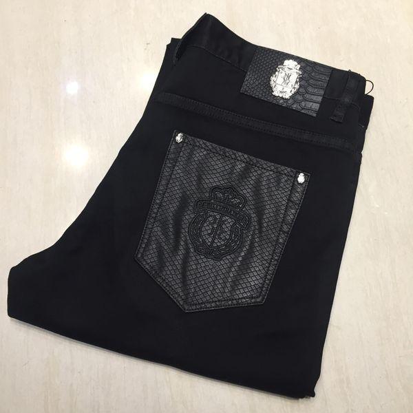 Jeans uomo 2019 nuovo stile moda cotone comfort Ricamato elasticità signore pantaloni taglia 32-42 shippng gratuito