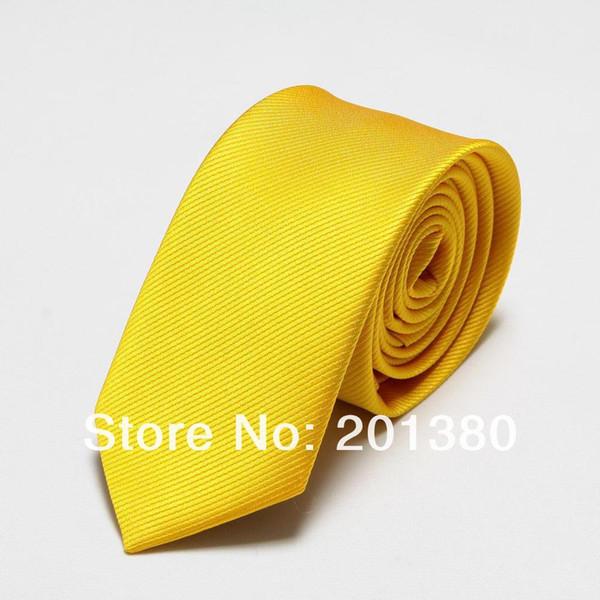 Mikrofiber erkekler bağları yenilik sarı erkek boyun kravat tek parça kravat cravat Giyim Aksesuarları moda ascot düz renk