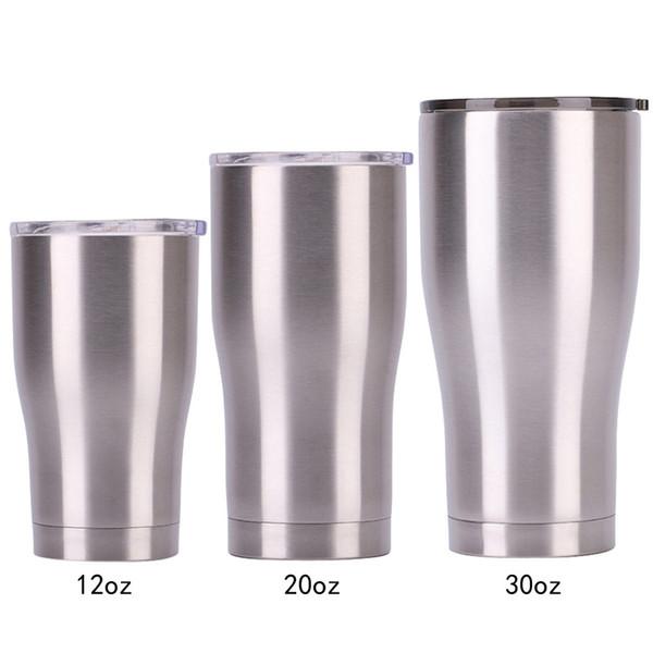Vaso de acero inoxidable con tapa 30 20 12 Oz Frasco de vacío de doble pared Vaso de cerveza con aislamiento Termos para beber Café VT0225