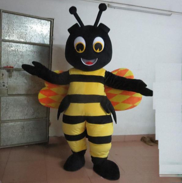 Vendita calda 2019 costume mascotte calabrone felice per adulti in vendita