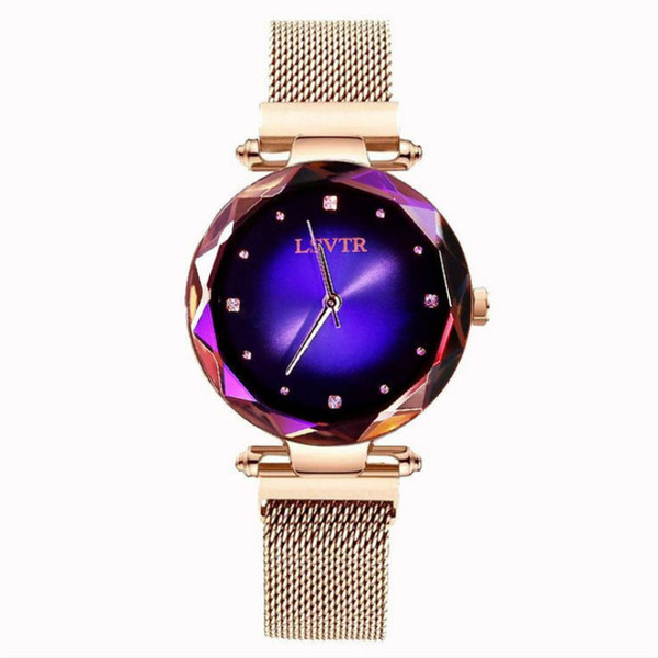 New Arrivals Romantic Starry Sky Ladies Quartz Watch Galaxy Dial Star Space Pattern Analog Women Wrist Watches Metal Strap Magnet Clasp gift