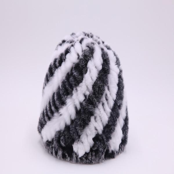 Высококачественный Rex Fur Hat Спиральный Ананас Hat Real Fur Knit зимы Толстые теплые шапки Бомбардировщик zenwinkay сомбреро Ruso