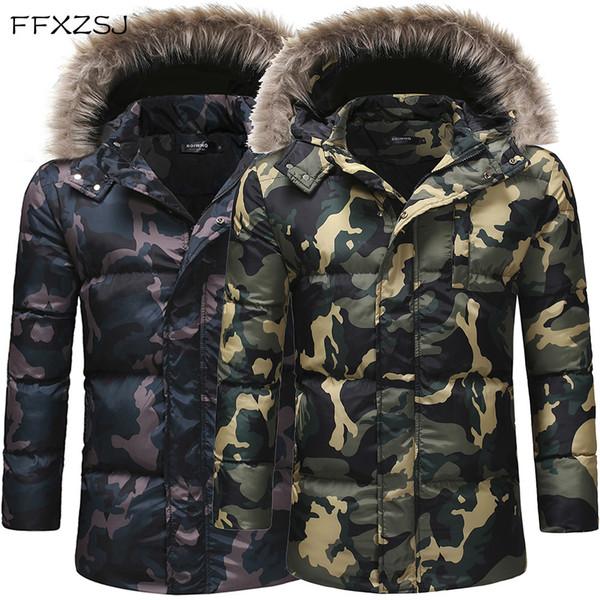 Großhandel FFXZSJ Parkas Hombre Herrenmode High End Freizeit Camouflage Winterjacke Herren Steppjacke Warme Winterjacken Männer Von Amosty, $103.61