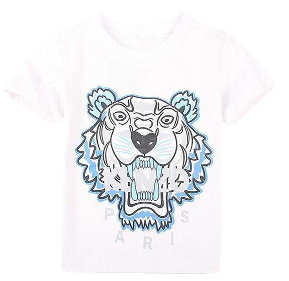 summer boys t shirt girl tees brand tag t-shirt for girls cotton children's tshirts for boy child shirts kids tops