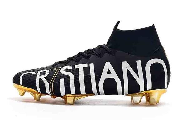 Scarpe alla caviglia alta di calcio LVL UP Superfly 6 Elite C FG Calcio CR7 Mercurial Superfly VI 360 Neymar NJR ACC Tacchetti Calcio