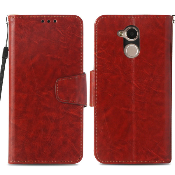 selezione premium 1566b dc40c Leather Wallet Case For Huawei Honor 6A Case Cover For Huawei Honor 5C Pro  Kickstand Flip Cover PU Phone Cases With Card Pocket Western Cell Phone ...