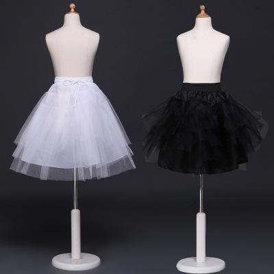 Venta caliente de las niñas falda tutú enaguas princesa mucama cosplay niños tul crinolina barato blanco negro para niños pettiskirt para vestido corto
