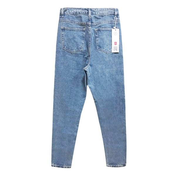 Fashion-New Arrivals Women High Waisted Jeans OL Denim Pants Trousers Mom Elastic Pencil Jeans for Woman