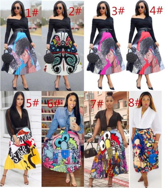 best selling women designer Mid-Calf skirt summer dress high quality pleated dress sexy elegant luxury fashion skirt hot klw0408