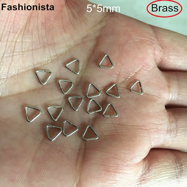 100 pcs 5*5mm Triangle Clasps,Gold-color,Silver-color,Steel color,Raw Brass,Bronze,Brass Clasps For Jewelry Projects -HYM