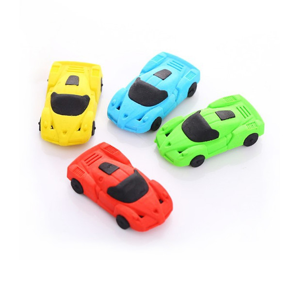 Car Shape rubber eraser cartoon removable eraser stationery school supplies papelaria gift toy for kids penil eraser toy gift Free shipping