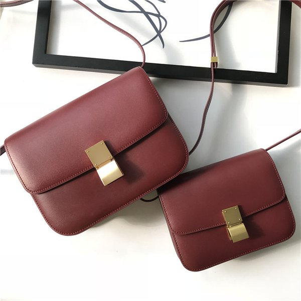 Elegant2019 Curd Bean Hand Rub Grain Genuine Leather Bag Woman Quality Small Square Package Single Shoulder Span
