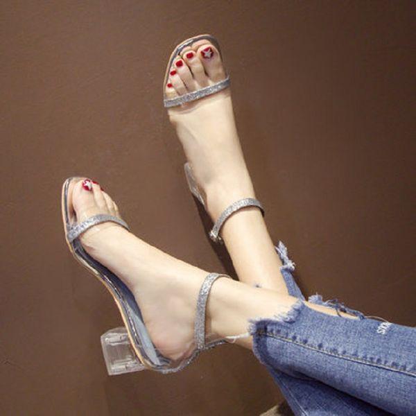 93d37a3b5 Сказочный стиль со словом с 2019 года новой летней женской обуви на высоком  каблуке