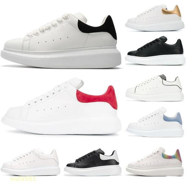 Schwarz Weiß Freizeitschuhe Herren Damen Schuhe Schöne Plattform Freizeitschuhe Designer Schuhe Leder Unifarben Kleid eur35-44