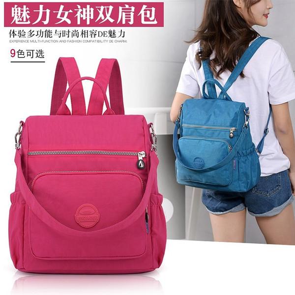 Multiuso Backpack modo delle donne di Mochila Trend zaino di tela sacchetti di scuola impermeabile 4 colori viaggio Borsone