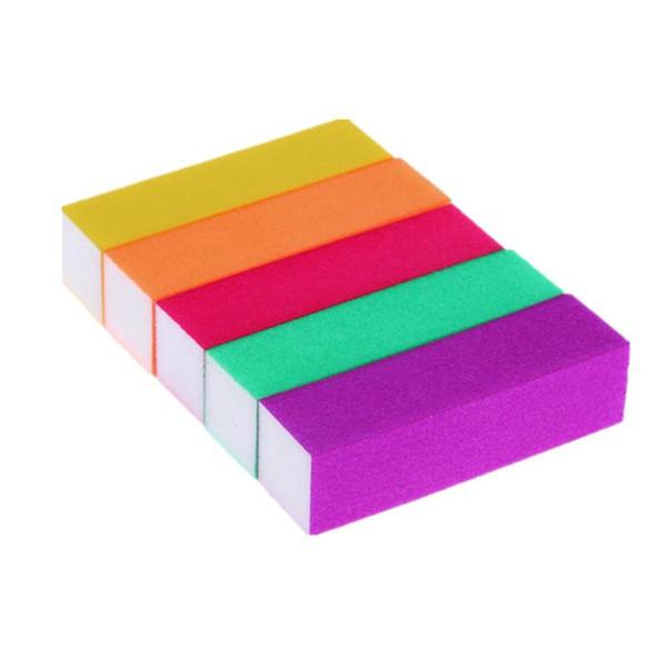 5 Pcs Nail Buffer File Sponge Sand Paper Emery Block Polishing Grinding Nail Manicure File Buffer Block