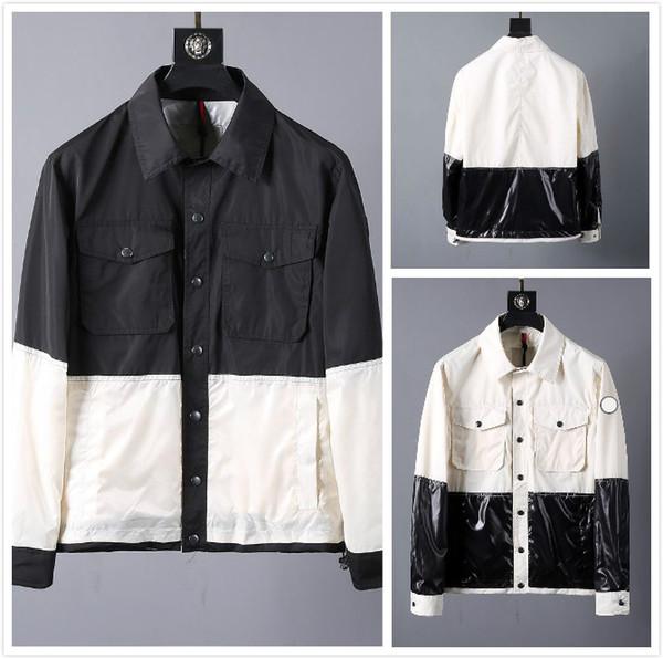 Monclers Parker Jacke Herren Designer-Jacke Luxus verdicken Herren Contrast Winterjacke Qualitäts-Marken-2019-Winter-Mantel