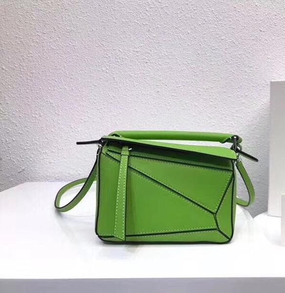 10173 2019 hot sale luxury puzzle bag fashion brand designer handbags real leather women shoulder bag