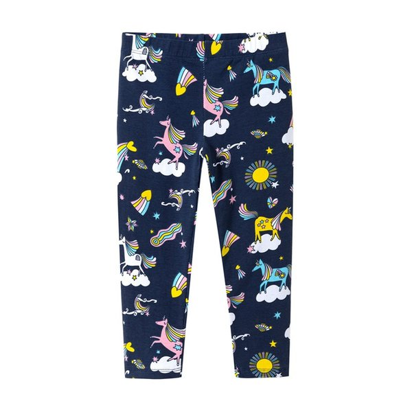Unicorn girl legging pants new design cotton long pants kids girl cartoon bottom trousers free shipping
