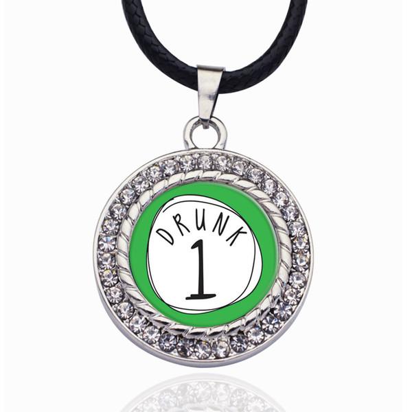 Drunk One Circle Charm Kugelkette aus Zinklegierung Exquisite Sliver / Rose Gold Damen Schmuck