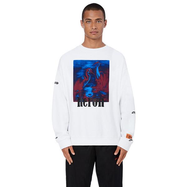 Heron Preston for Men Designer Sweatshirt Loose Crew Neck Long Sleeve Pullover Embroidery Print Fashion Male Hip Hop Tops Size S-XL